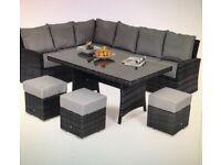 Kingston grey or brown corner dining set