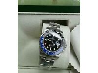 Rolex GMT 2 Silver + Box, Papers