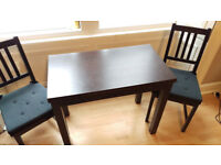 IKEA BURSTA EXTENDABLE KITCHEN DINING TABLE w/ 2 Chairs - (WILL DELIVER IN EDINBURGH)