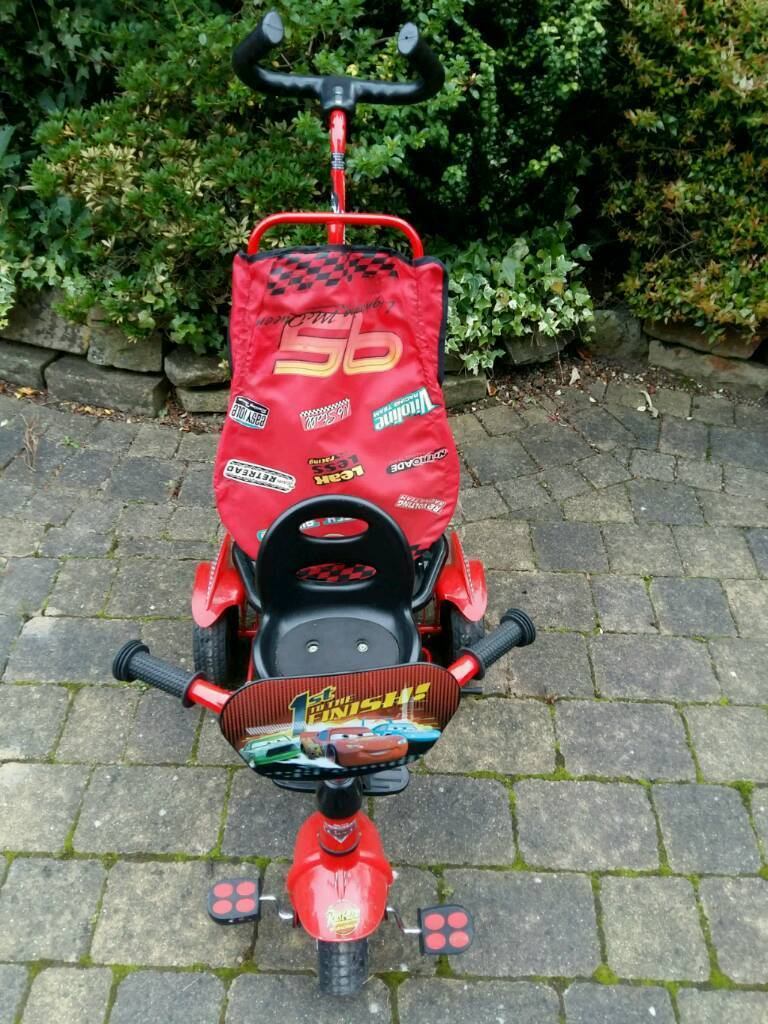 Disney Cars Trikein Gatley, ManchesterGumtree - In good condition, has removable sunshade and parent handle. Will need to be collected, unable to deliver