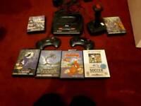 Sega mega drive and games 3 cpntols