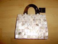 Mother of pearl small handbag, new