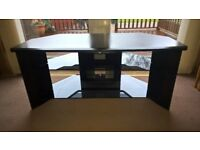 SONY TV Corner Unit (Black & Smoked Glass)