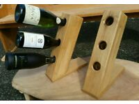 Oak bottel rack .
