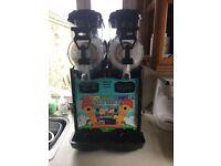 kreamline twin barrell slush machine as new condition