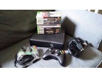 Xbox 360s 4gb with 2 controllers and games