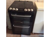 Zanussi black electric cooker. Model ZCV551MNC