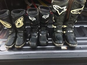 Motocross boots 3 pairs
