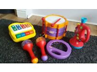 Toy musical instruments set drum piano