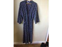 Ladies plus size 22 full length M&S cotton dressing gown UNWORN