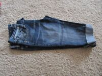 Crop Jeans blue size 8 in good condition only one pound £1.00