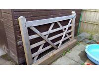 Soild wooden gate