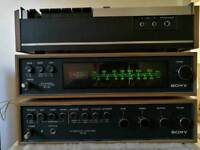 Vintage Sony stereo system with speakers