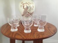British Caledonian Stuart crystal red wine glasses