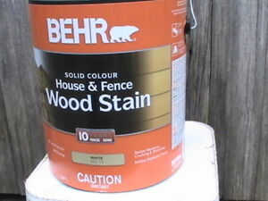 Stain, Behr Solid Colour Wood Stain White Unopened New