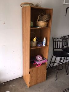 3 shelves plus a cubby with door $25 OBO
