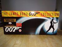 JAMES BOND 007 VHS VIDEO LTD EDITION BOXSET - MOST VIDEOS ARE STILL SEALED - CERTIFICATE 15