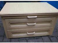 Set of caravan central drawers