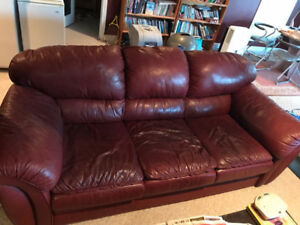 FREE-- 2 Leather Couches FREE- Must Come Pick Up