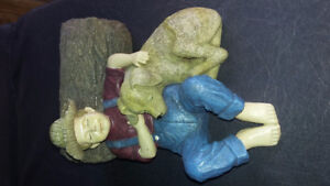 OUTDOOR GARDEN SLEEPING BOY/GNOME STATUES