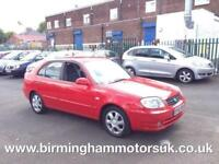 2005 (55 Reg)Hyundai Accent 1.6 CDX AUTOMATIC 5DR Hatchback RED + MEGA LOW MILES