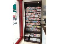Newsagent, Shop, Magazine, Newspaper, Book, Wooden, Display Unit, Stand, Rack