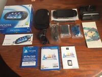 Sony PlayStation Vita (PS Vita) with 64GB card & FFX HD + accessories EXCELLENT CONDITION