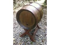 FRENCH TABLE BARREL ON STAND