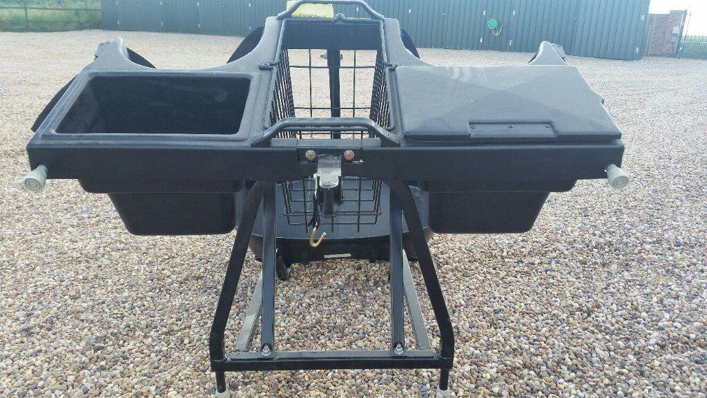 GOLF BUGGY REAR 2 GOLF BAG HOLDER EZGO E2 ETC WITH COMPARTMENTS ASSY LINKSBACK 2634464 POLARIS MAKE!