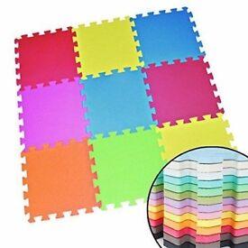 x18 Tiles of Eva Kids Flooring, Foam Coloured Interlocking Activity Mats (18sft)