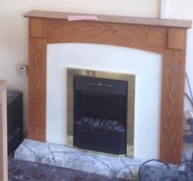 Electric fire and surround free to collect please read and look at pics!!