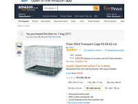 """Dog crate cage silver metal 36"""" unused folding with 2 doors"""