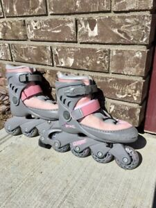 Girls Youth Rollerblades adjustable size of 10/11/12/13