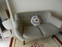 Perfect Scandinavian Inspired Retro Style Contemporary Sofa with wooden legs, VGC, £230.00 ONO