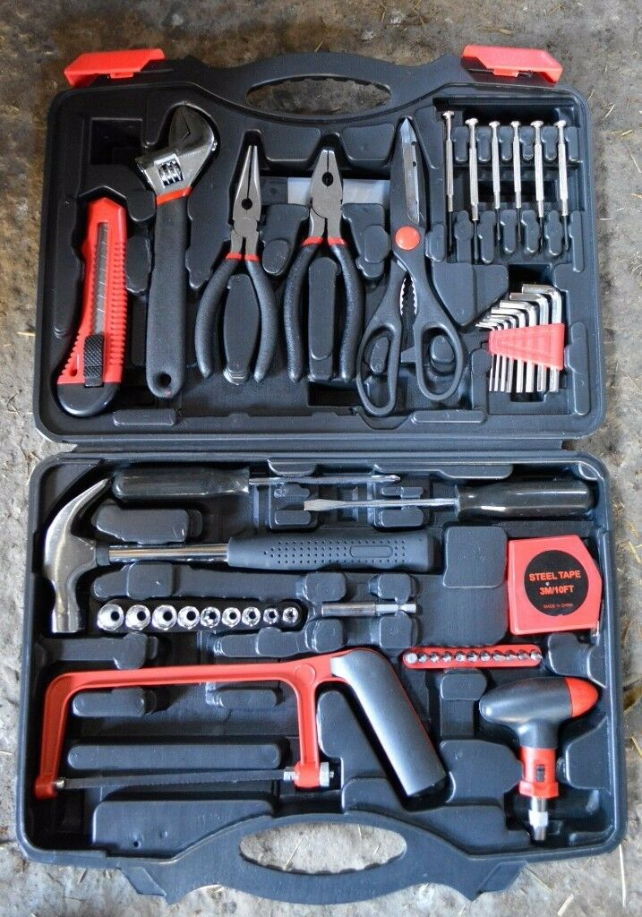57 piece INTEY home toolkit in casebarely usedin Forres, MorayGumtree - Barely used toolkit for odd jobs around the house or on the car. Think the saw blade needs replacing but thats about it. Everything else is in great condition. Used only once or twice. £20 Can deliver around Forres