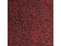 Supacord Fibre Bonded Carpet Tiles Heckmondwike - Claret