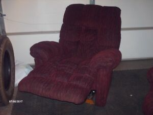 recliner and a brown chair also