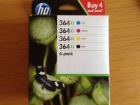 HP364XL high yield combo pack ink cartridges.