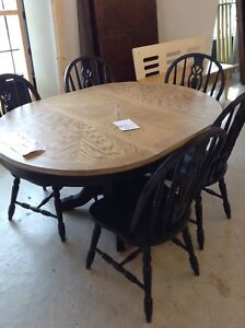 Refinished solid wood table #HFHReStore