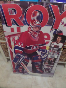 Patrick Roy Wooden Hockey Poster