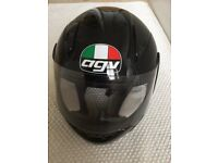 AGV Full Face Crash Helmet, black, size small. Very good condition.