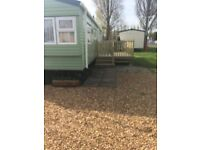Caravan for holiday rentals - 2 bedroom 6 berth with decking. Centrally heated and double glazed.