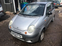 2002 DAEWOO MATIZ MOT MAY 2018 POWER STEERING NEW CLUTCH PX WELCOME MIN £95 PAID