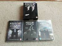 House of Cards DVD seasons 1-3