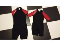 2 Kids shortie wetsuits age 4 & 6