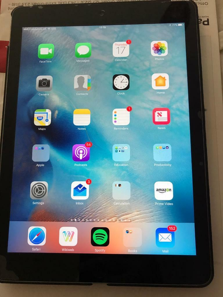 iPad Air 64GB Cellular VGC with box, charger, coverin Bournemouth, DorsetGumtree - An iPad with all the usual kit £10 worth cover chucked in Never dropped or damagedPristine conditionWorking 100%