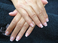 French Manicure for Hand Modeling Swap