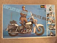 1/8th Harley Davidson Police Bike-by Revell, Highway Patrol - NEW OLD 1981