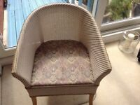 Wicker chair commode