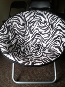 Black and white folding chair- moving sale